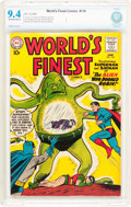 Silver Age (1956-1969):Superhero, World's Finest Comics #110 (DC, 1960) CBCS NM 9.4 Off-white to white pages....