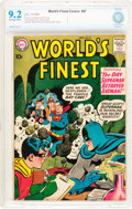 Silver Age (1956-1969):Superhero, World's Finest Comics #97 (DC, 1958) CBCS NM- 9.2 Off-white to white pages....