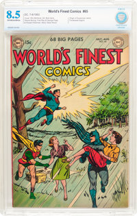 World's Finest Comics #65 (DC, 1953) CBCS VF+ 8.5 Off-white pages