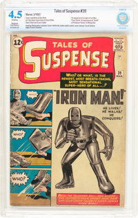 Tales of Suspense #39 (Marvel, 1963) CBCS Restored VG+ 4.5 Slight to Moderate (A) Off-white pages