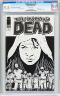 Modern Age (1980-Present):Horror, Walking Dead #1 Wizard World Sacramento Sketch Cover (Image, 2015)CGC NM/MT 9.8 White pages....