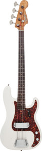 Musical Instruments:Electric Guitars, 1962 Fender Precision Bass White Electric Bass Guitar, Serial #90580, Weight: 8.6 lbs....