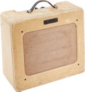 Musical Instruments:Amplifiers, PA, & Effects, 1951 Fender Deluxe Tweed Guitar Amplifier, Serial # 1956....