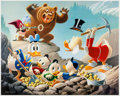 Memorabilia:Disney, Carl Barks Trespassers Will Be Ventilated Regular Edition Lithograph #229/345 (Another Rainbow, 1987). ... (Total: 2 Items)