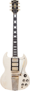 Musical Instruments:Electric Guitars, 1963 Gibson SG Custom White Solid Body Electric Guitar, Serial #148256, Weight: 7 lbs....