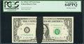 Error Notes:Ink Smears, Fr. 1910-C $1 1977A Federal Reserve Note. PCGS Very Choice New64PPQ.. ...