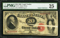 Error Notes:Large Size Errors, Fr. 147 $20 1880 Legal Tender PMG Very Fine 25.. ...