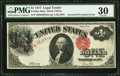 Error Notes:Large Size Errors, Fr. 38 $1 1917 Mule Legal Tender Note. PMG Very Fine 30.. ...