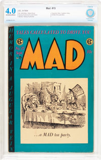 MAD #15 (EC, 1954) CBCS VG 4.0 Off-white to white pages