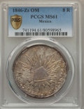 Mexico, Mexico: Republic 8 Reales 1846 Zs-OM MS61 PCGS,...