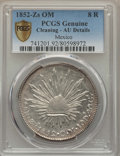 Mexico, Mexico: Republic 8 Reales 1852 Zs-Om AU Details (Cleaning) PCGS,...