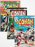 Bronze Age (1970-1979):Adventure, Conan the Barbarian Group of 56 (Marvel, 1975-91) Condition: Average NM-.... (Total: 56 Comic Books)