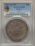 Mexico, Mexico: Republic 8 Reales 1833 Zs-OM XF45 PCGS,...
