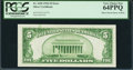 Error Notes:Ink Smears, Fr. 1650 $5 1934 Silver Certificate. PCGS Very Choice New 64PPQ.....