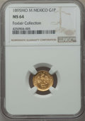 Mexico, Mexico: Republic gold Peso 1895 Mo-M MS64 NGC,...