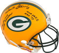 Football Collectibles:Helmets, Bart Starr Signed 4 Inscription Full Sized Authentic Green Bay Packers Helmet....