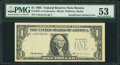 Error Notes:Missing Third Printing, Fr. 1921-A $1 1995 Federal Reserve Note. PMG About Uncirculated 53.. ...