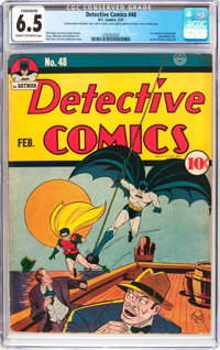 Detective Comics #48 (DC, 1941) CGC Conserved FN+ 6.5 Cream to off-white pages