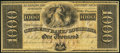Obsoletes By State:Louisiana, New Orleans, LA- Citizens' Bank of Louisiana $1000 18__ Remainder...