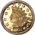 California Fractional Gold , 1874 50C Indian Round 50 Cents, BG-1053, High R.5, MS66 PCGS....