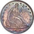 Seated Half Dollars, 1879 50C Closed Bud, WB-102, MS66 PCGS. CAC....
