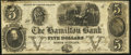 Obsoletes By State:Rhode Island, North Scituate, RI- Hamilton Bank $5 Feb. 14, 1849...