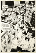 Original Comic Art:Splash Pages, Joe Staton and Bob Layton - All-Star Comics #70, Splash page 11Original Art (DC, 1978)....