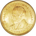 Commemorative Gold: , 1905 G$1 Lewis and Clark MS65 PCGS. A thoroughly lustrous andintricately struck Gem of this scarce early gold commemorativ...
