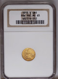 Commemorative Gold: , 1915-S G$1 Panama-Pacific Gold Dollar MS65 NGC. A shimmeringorange-gold Gem with occasional hints of powder-blue color. Be...