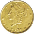 California Fractional Gold: , 1870 25C Liberty Round 25 Cents, BG-836, High R.7, MS61 NGC. A veryrare variety. The second edition of Breen-Gillio (2003)...