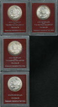 Additional Certified Coins: , 1879-S $1 Morgan Dollar MS65 Paramount International (MS63), ex:Redfield, honey toning visit... (Total: 4 Coins)