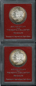 Additional Certified Coins: , 1890-S $1 Morgan Dollar MS65 Paramount International (MS64),splendid orange-brown toning fra... (Total: 2 Coins)