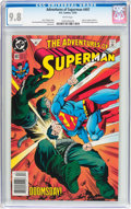 Modern Age (1980-Present):Superhero, Adventures of Superman #497 (DC, 1992) CGC NM/MT 9.8 Whitepages....
