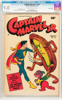 Captain Marvel Jr. #70 Crowley Copy Pedigree (Fawcett, 1949) CGC VF/NM 9.0 Cream to off-white pages