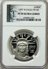 1997-W $100 One-Ounce Platinum Eagle PR70 Ultra Cameo NGC....(PCGS# 9751)