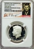 Kennedy Half Dollars, 2014-S 50C High Relief Silver, 50th Anniversary Set MS69 ProoflikeEnhanced Finish NGC. PCGS Population ...
