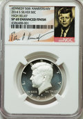 Kennedy Half Dollars, 2014-S 50C High Relief, Silver Kennedy 50th Anniversary Set, SP69Enhanced Finish NGC. PCGS Population (...