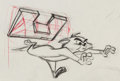 Animation Art:Production Drawing, Tom and Jerry Animation Production Drawing (MGM, 1964)....