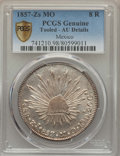 Mexico, Mexico: Republic 8 Reales 1857 Zs-MO AU Details (Tooled) PCGS,...