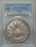 Mexico, Mexico: Republic 8 Reales 1868 O-AE AU Details (Cleaning) PCGS,...