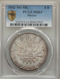 Mexico, Mexico: Republic 8 Reales 1842 Mo-ML MS63 PCGS,...