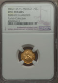Mexico, Mexico: Republic gold 1/2 Escudo 1862/1 Zs-VL UNC Details (SurfaceHairlines) NGC,...