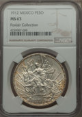 Mexico, Mexico: Republic Peso 1912 MS63 NGC,...
