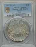 Mexico, Mexico: Republic 8 Reales 1827 Zs-AO AU Details (Cleaning) PCGS,...