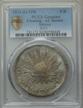 Mexico, Mexico: Republic 8 Reales 1831 Zs-OM AU Details (Cleaning) PCGS,...