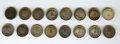 Mexico, Mexico: Republic Group of 16 1/2-Real Coins,... (Total: 16 coins)
