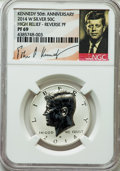 Proof Kennedy Half Dollars, 2014-W 50C High Relief Reverse Proof, 50th Anniversary Set, PR69 NGC. PCGS Population (476/252)....