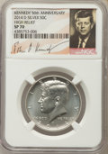 Kennedy Half Dollars, 2014-D 50C High Relief Silver, 50th Anniversary Set, SP70 NGC. NGCCensus: (0). PCGS Population (159)....