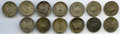 Mexico, Mexico: Republic Group of 13 1/2-Real Coins,... (Total: 13 coins)