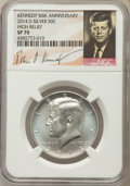 Kennedy Half Dollars, 2014-D 50C High Relief, Silver Kennedy 50th Anniversary Set, SP70NGC. NGC Census: (0). PCGS Population (157)....